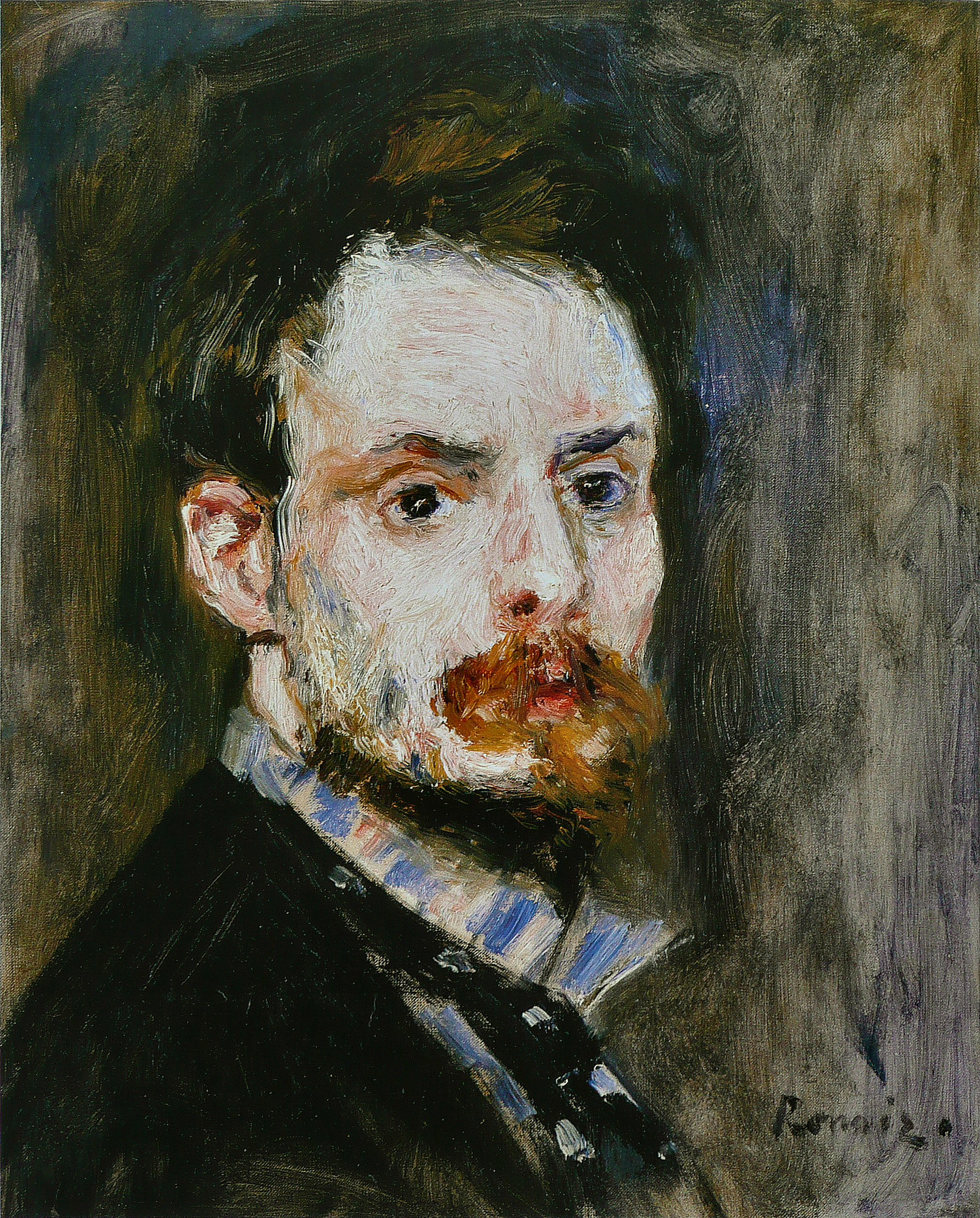 Self-portrait, 1875 — Pierre-Auguste Renoir