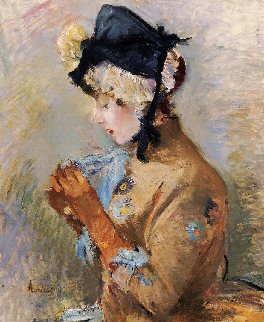 Woman Wearing Gloves (The Parisian), 1885 — Berthe Morisot