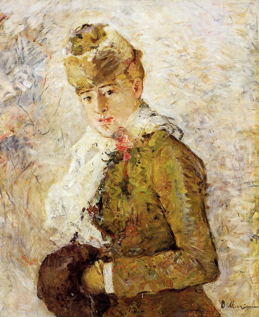 Winter (Woman with a Muff), 1880 — Berthe Morisot