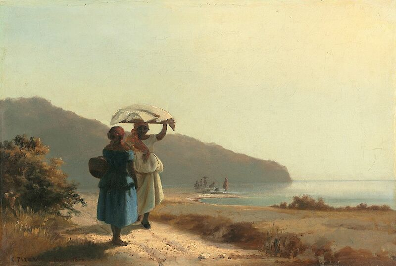 Two Women Chatting by the Sea, St Thomas