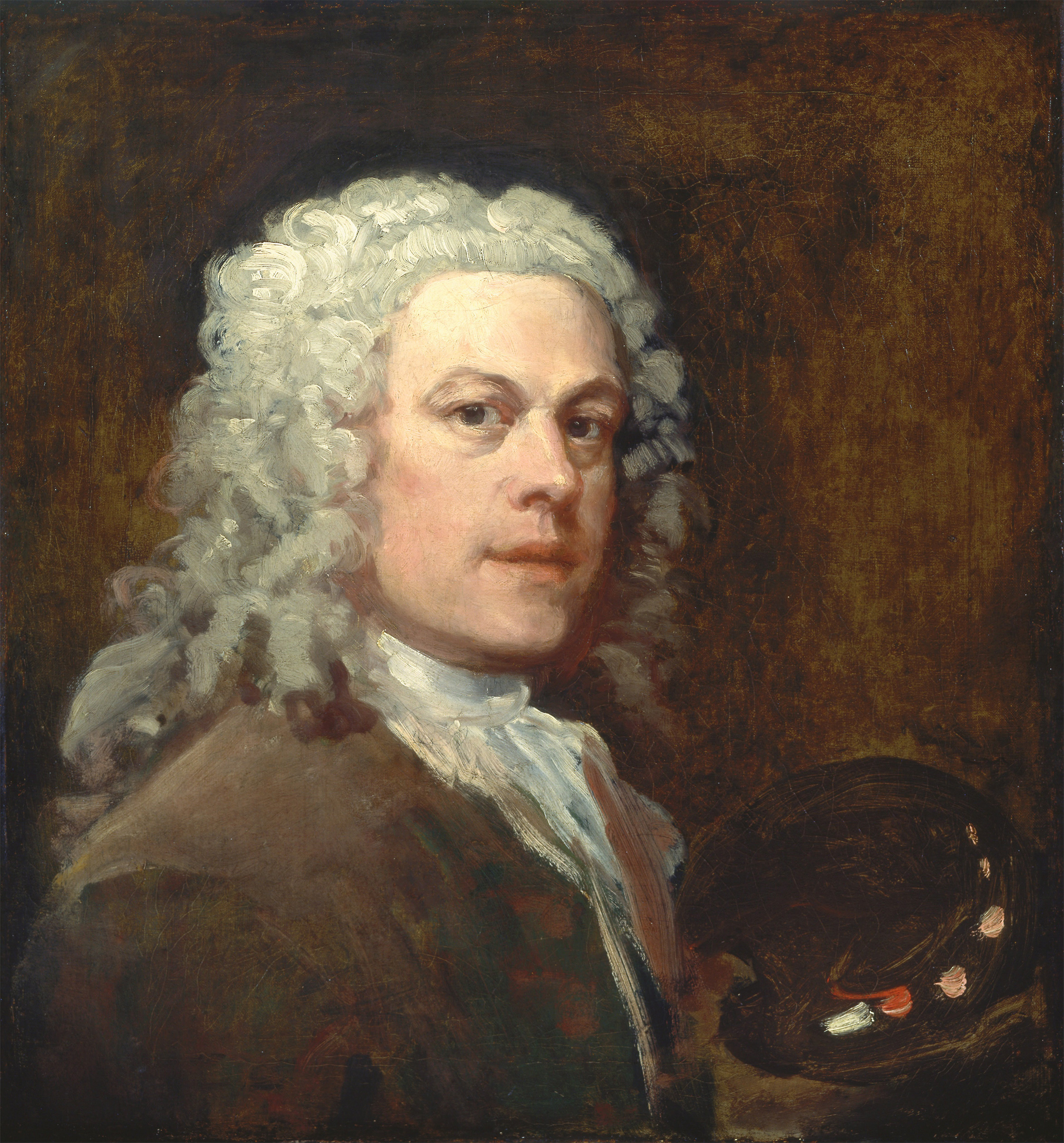 Self Portrait, 1735 — William Hogarth,