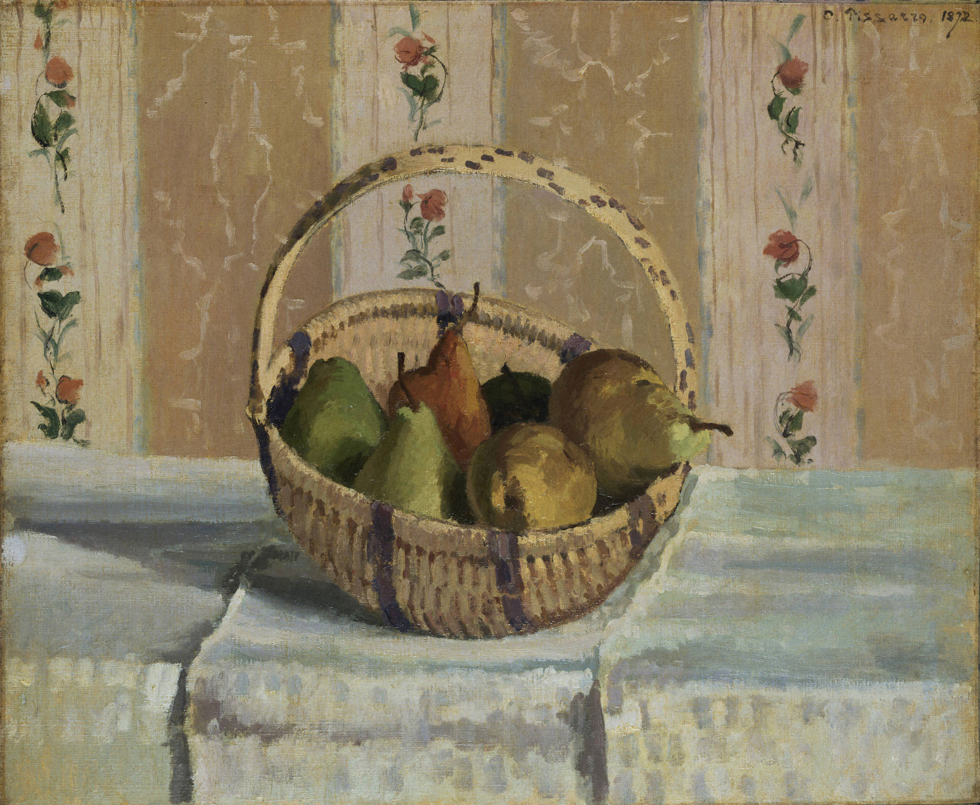 Still Life With Apples And Pears By Camille Pissarro