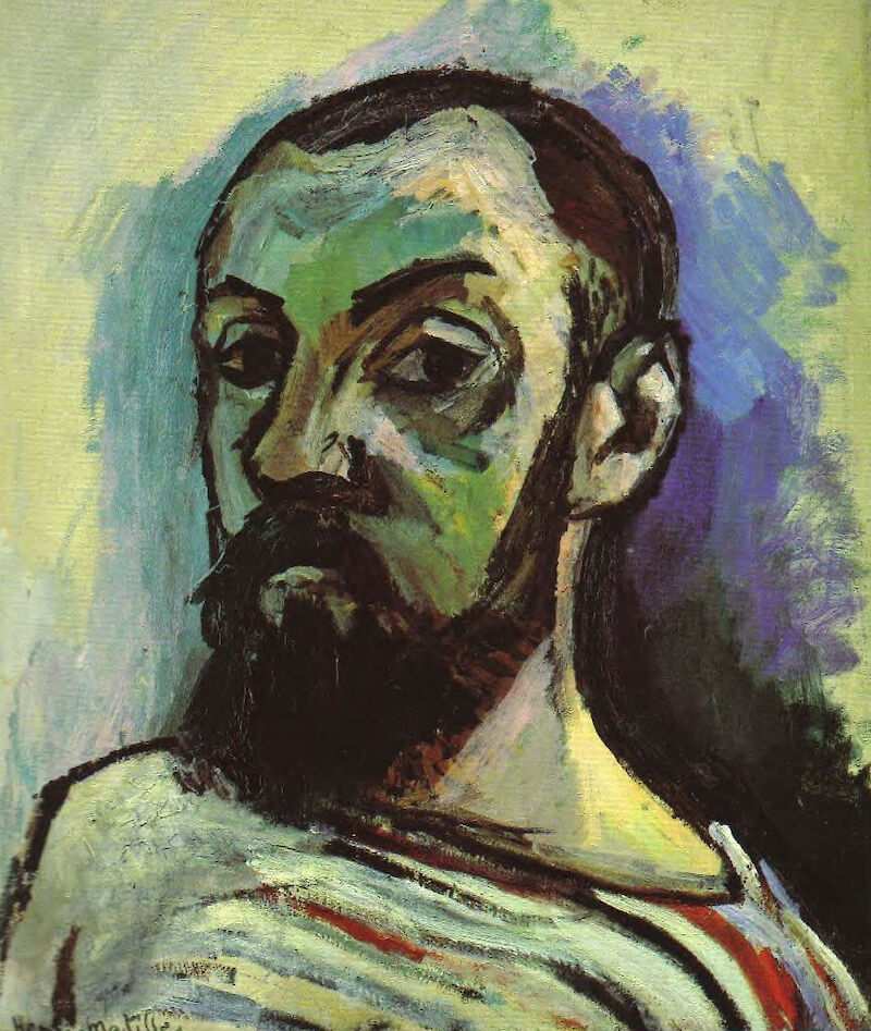 Self Portrait in a Striped T-shirt, 1906, Henri Matisse