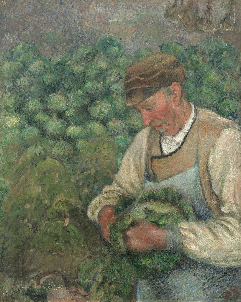 The Gardener - Old Peasant with Cabbage, 1895 — Camille Pissarro,