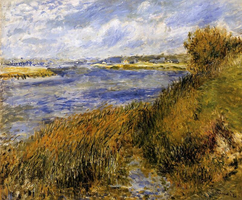 The Banks of the Seine at Champrosay, 1876, Pierre-Auguste Renoir