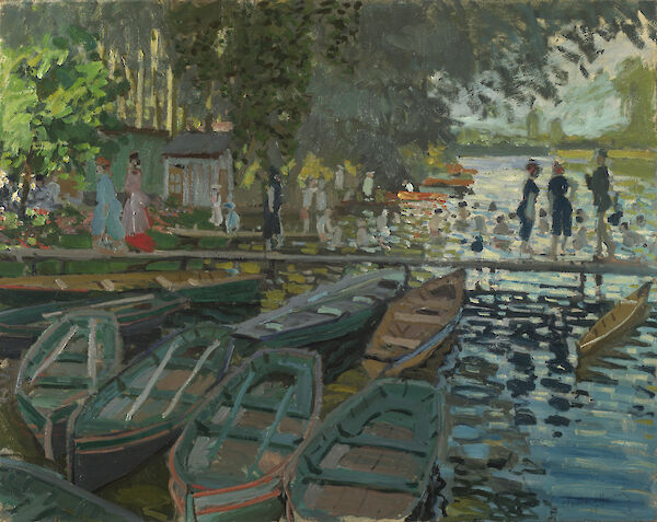 Claude Monet - Bathers at La Grenouillère 1892 Oil on canvas 73 x 92 cm