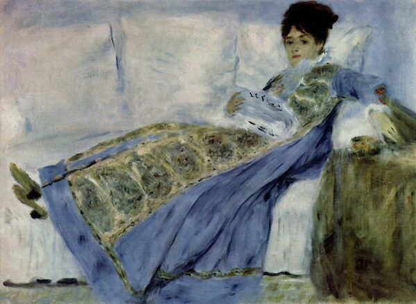 Madame Monet Reading Le Figaro