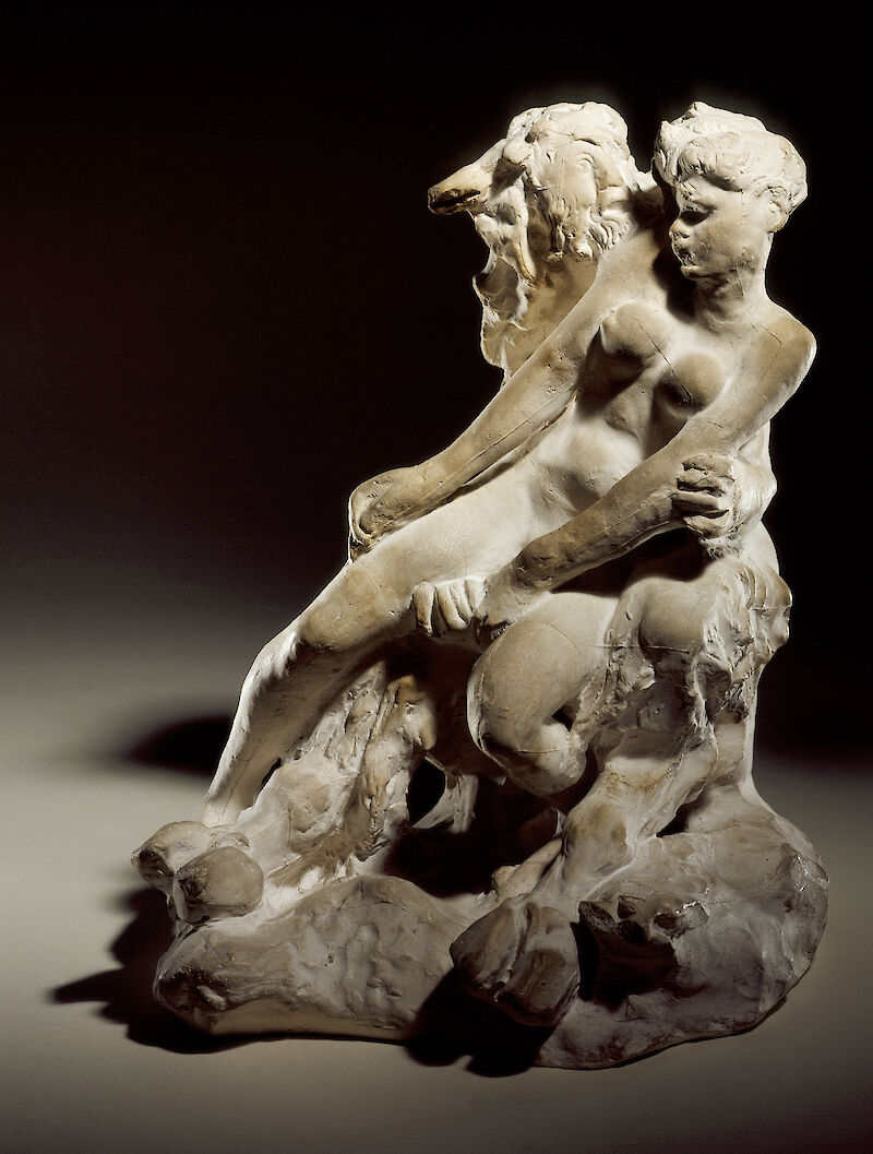 Minotaur or Faun and Nymph