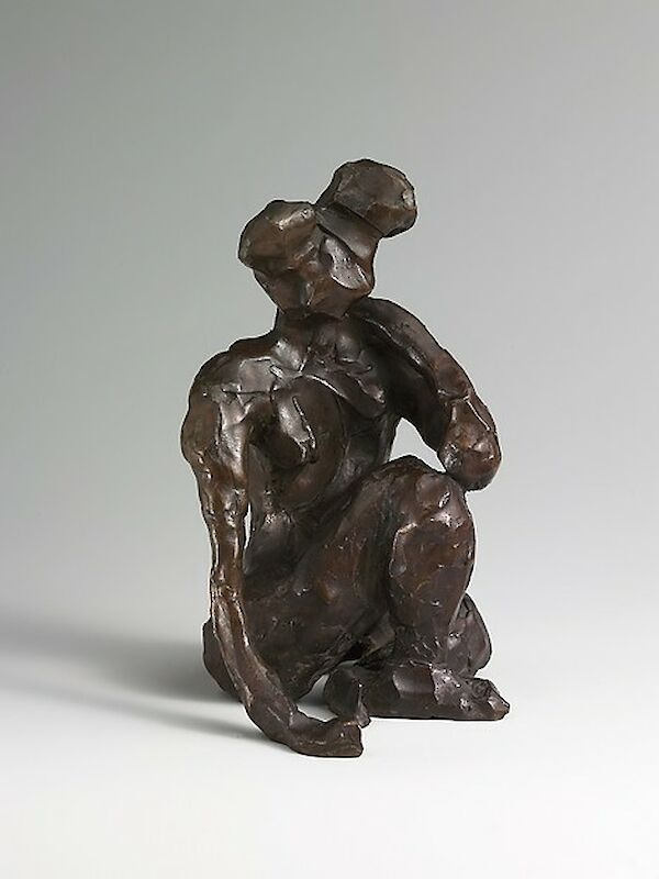 Seated Figure, Right Hand on Ground