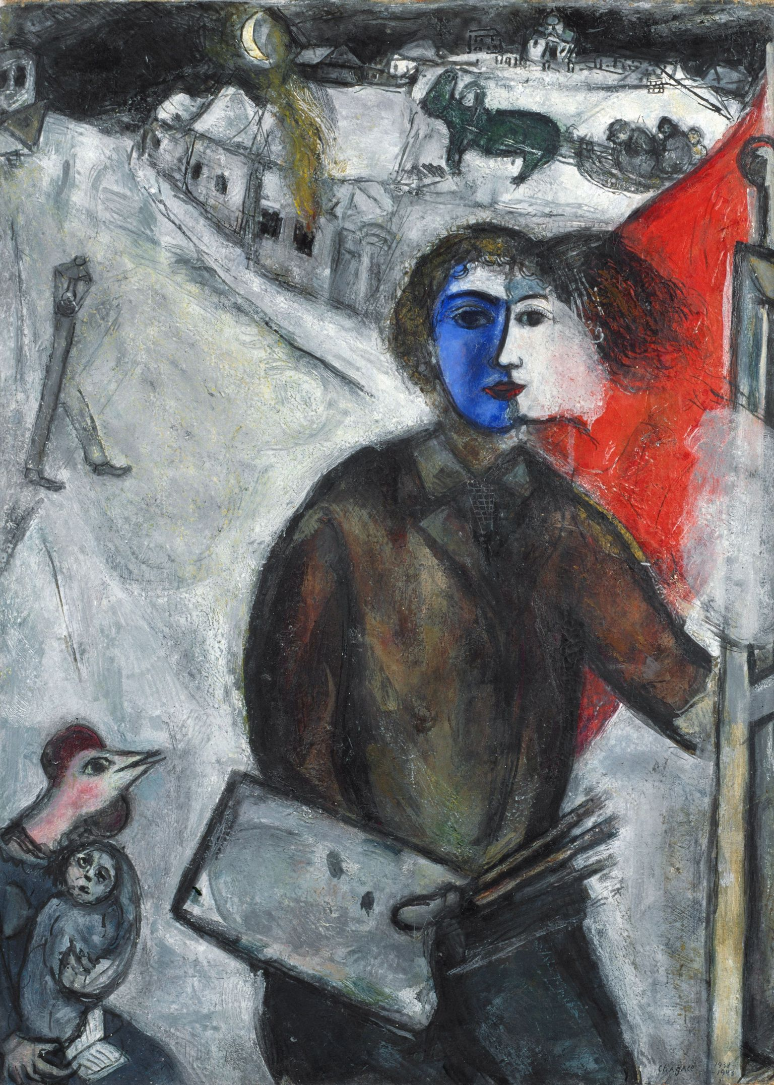 Between Darkness and Light, 1943 — Marc Chagall,