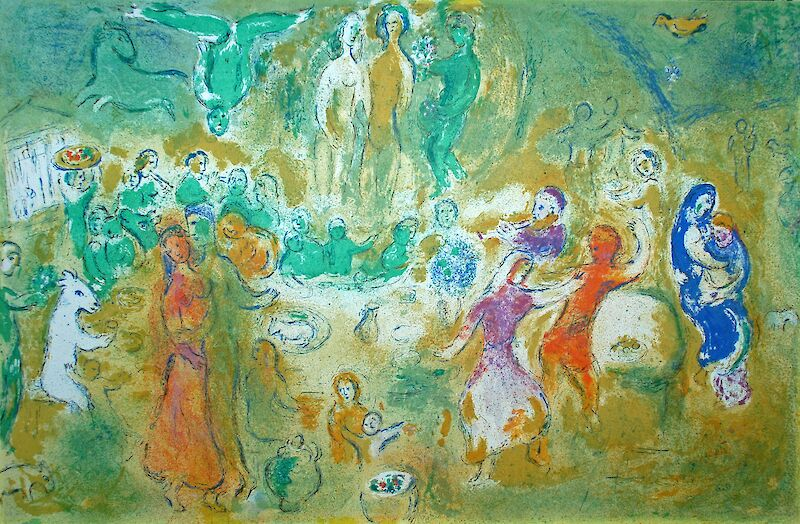 Wedding Feast in the Nymphs Grotto, 1961, Marc Chagall