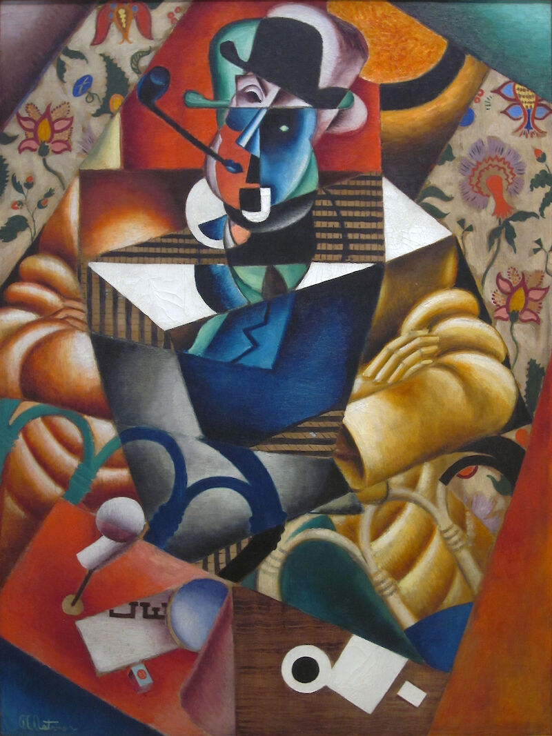 Man with a Pipe, 1913, Jean Metzinger