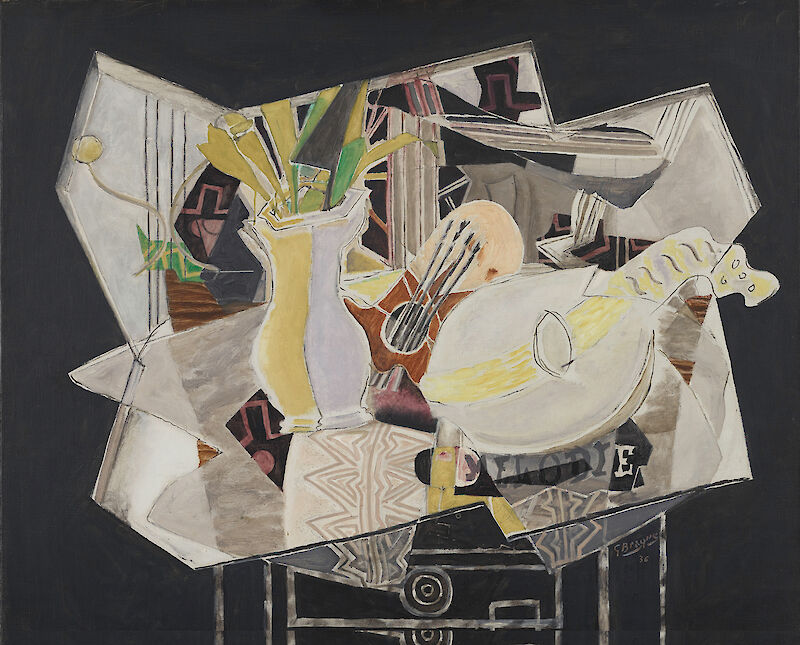 Vase, Palette, and Mandolin, 1944, Georges Braque