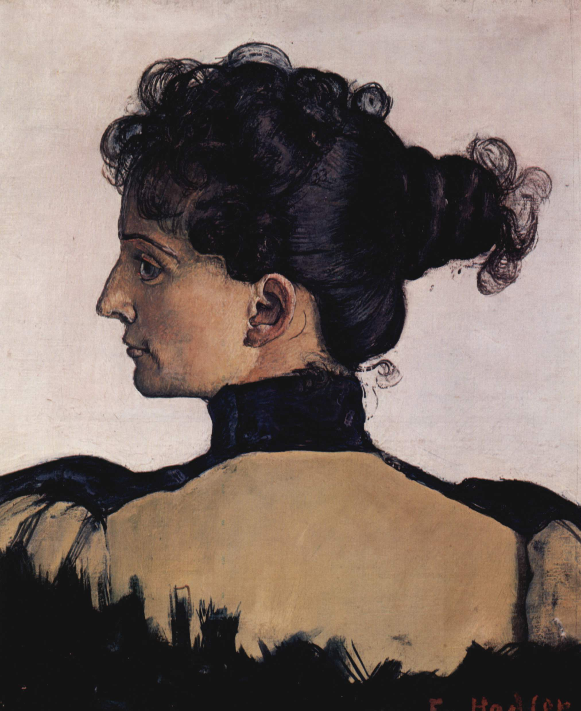 Portrait of Berthe Jacques (Wife of the Artist), 1894 — Ferdinand Hodler
