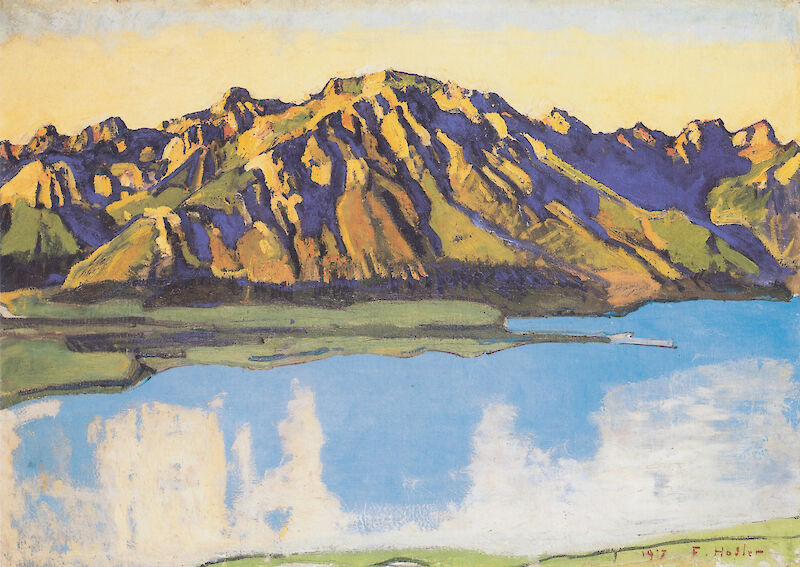 The Grammont in the Morning Sun, 1917, Ferdinand Hodler
