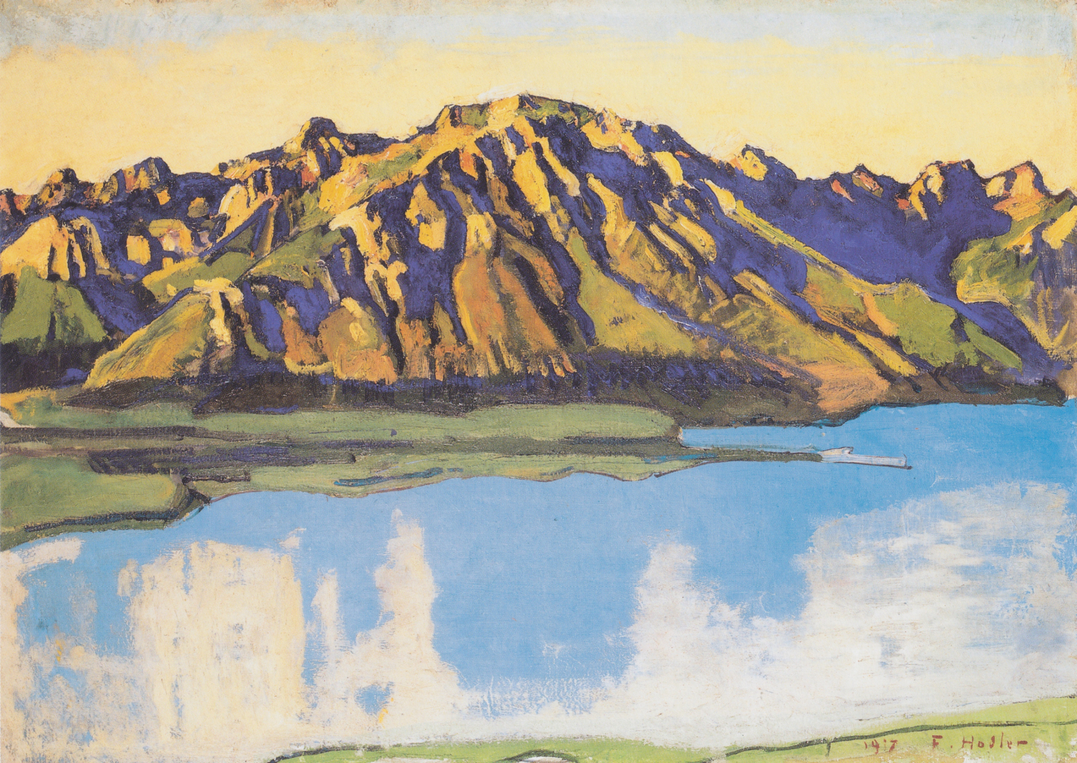 The Grammont in the Morning Sun, 1917 — Ferdinand Hodler