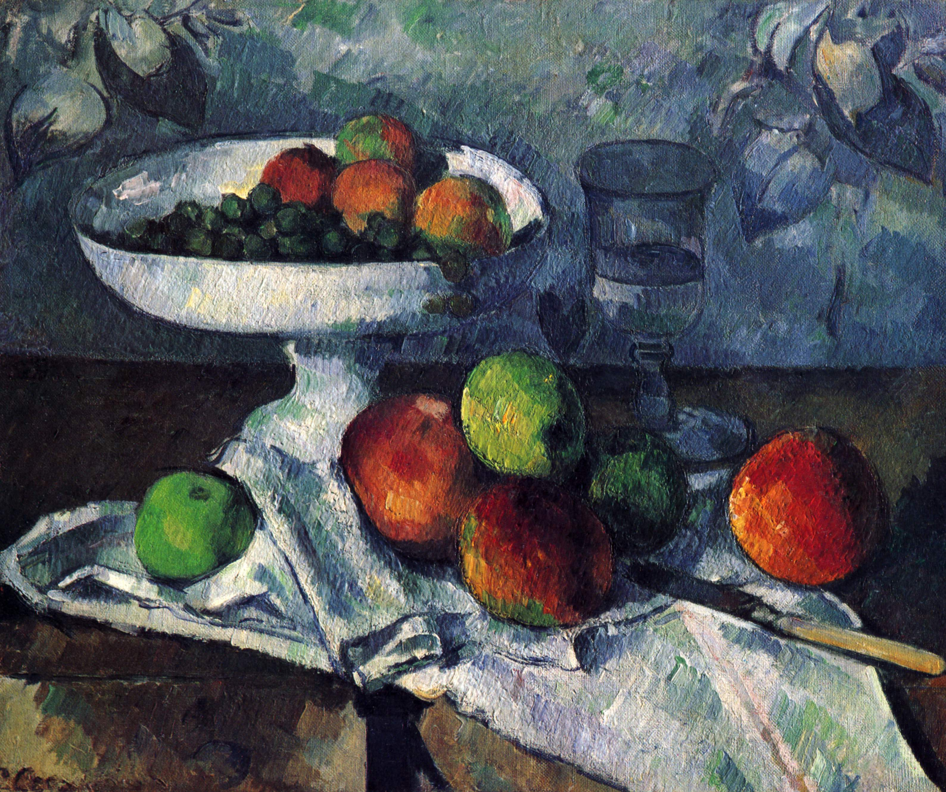Still Life With Fruit Dish, 1880 — Paul Cézanne
