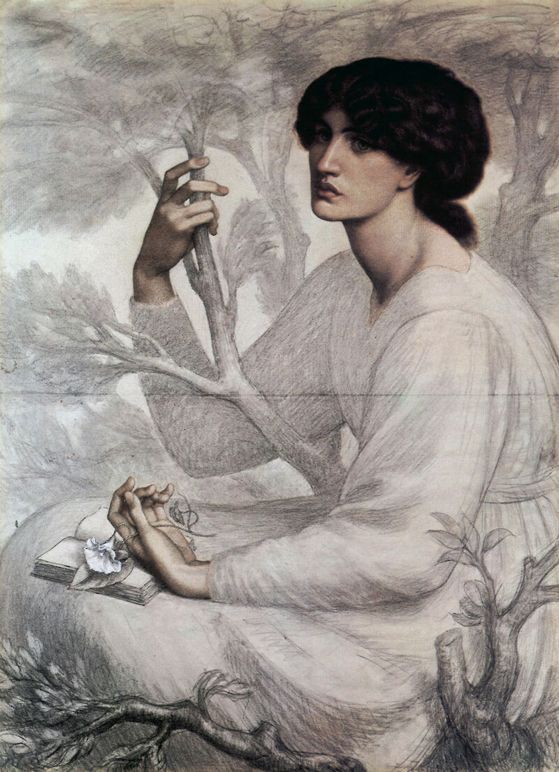 The Day Dream (Study), 1878, Dante Gabriel Rossetti