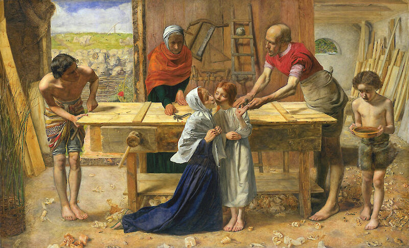 Christ in the House of His Parents, 1850, John Everett Millais