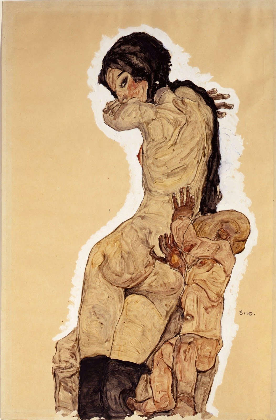 Woman with Homunculus, 1910 — Egon Schiele, Private Collection