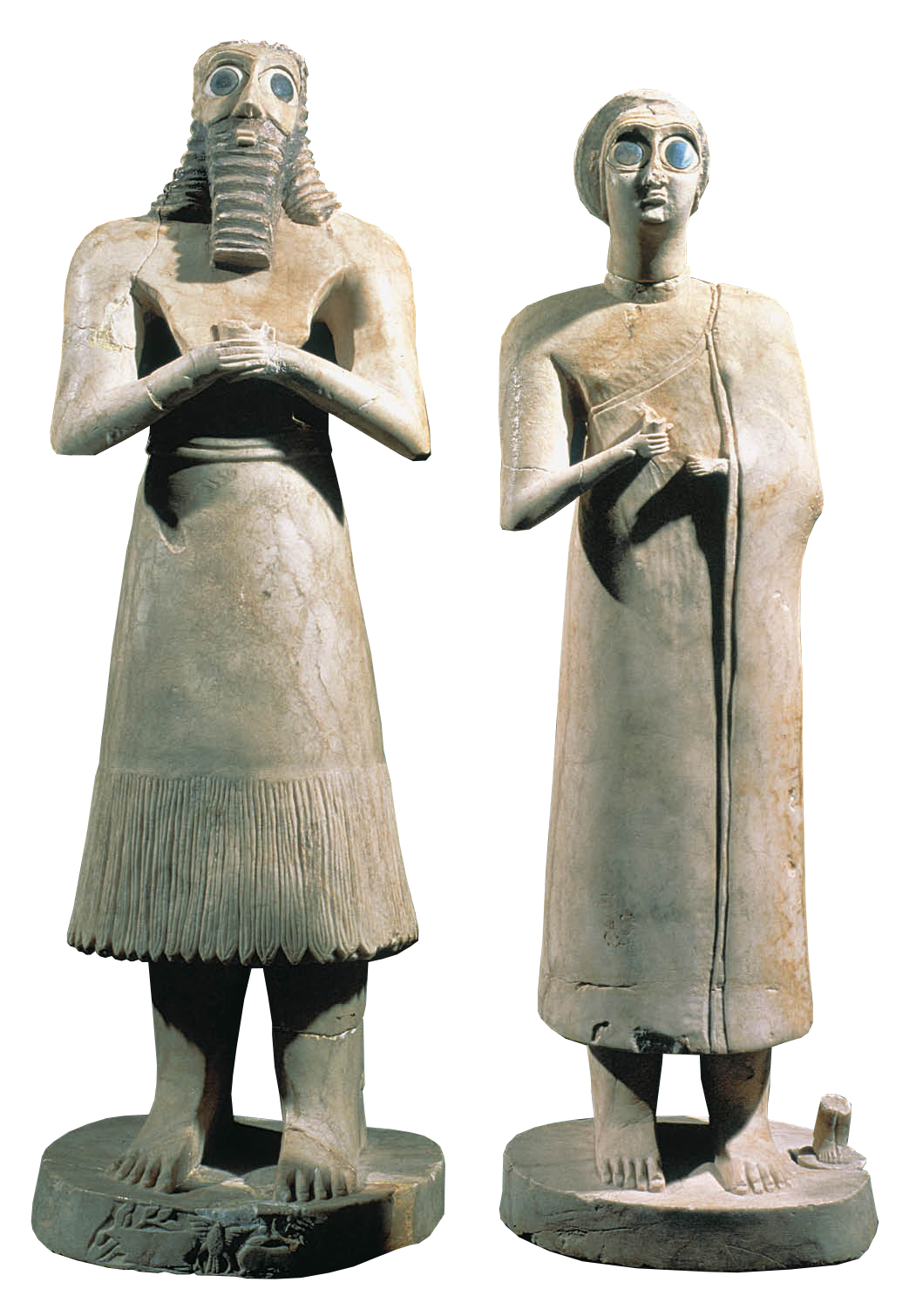 Votive Figurines from Eshnunna, 2700 BC — Mesopotamia,
