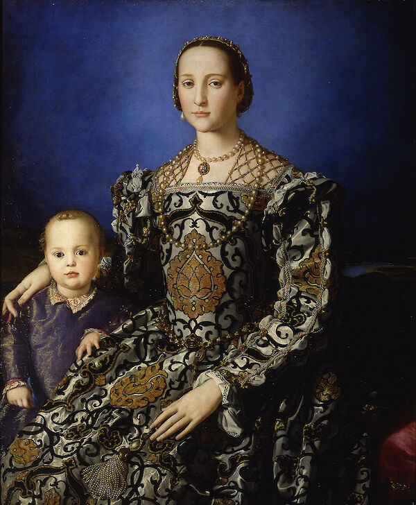 Portrait of Eleanor of Toledo with her son Giovanni de Medici