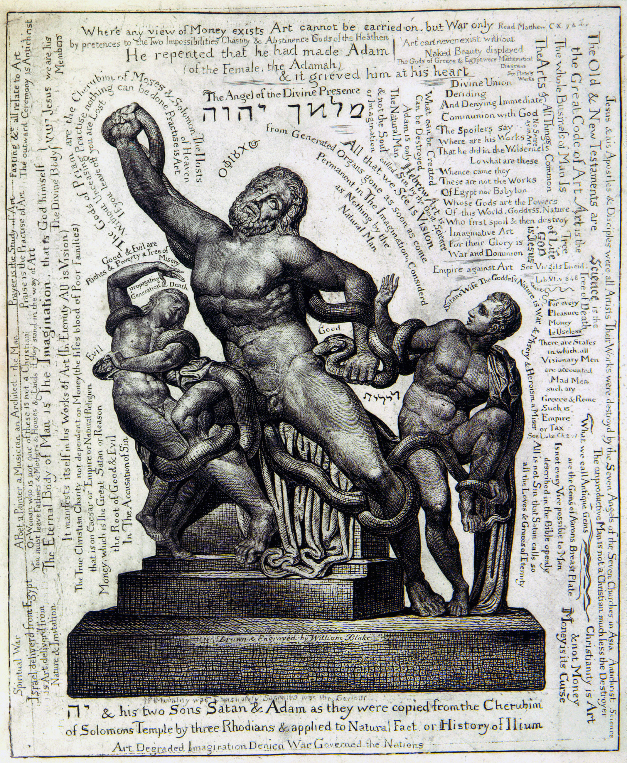 Laocoön, 1827 — William Blake,