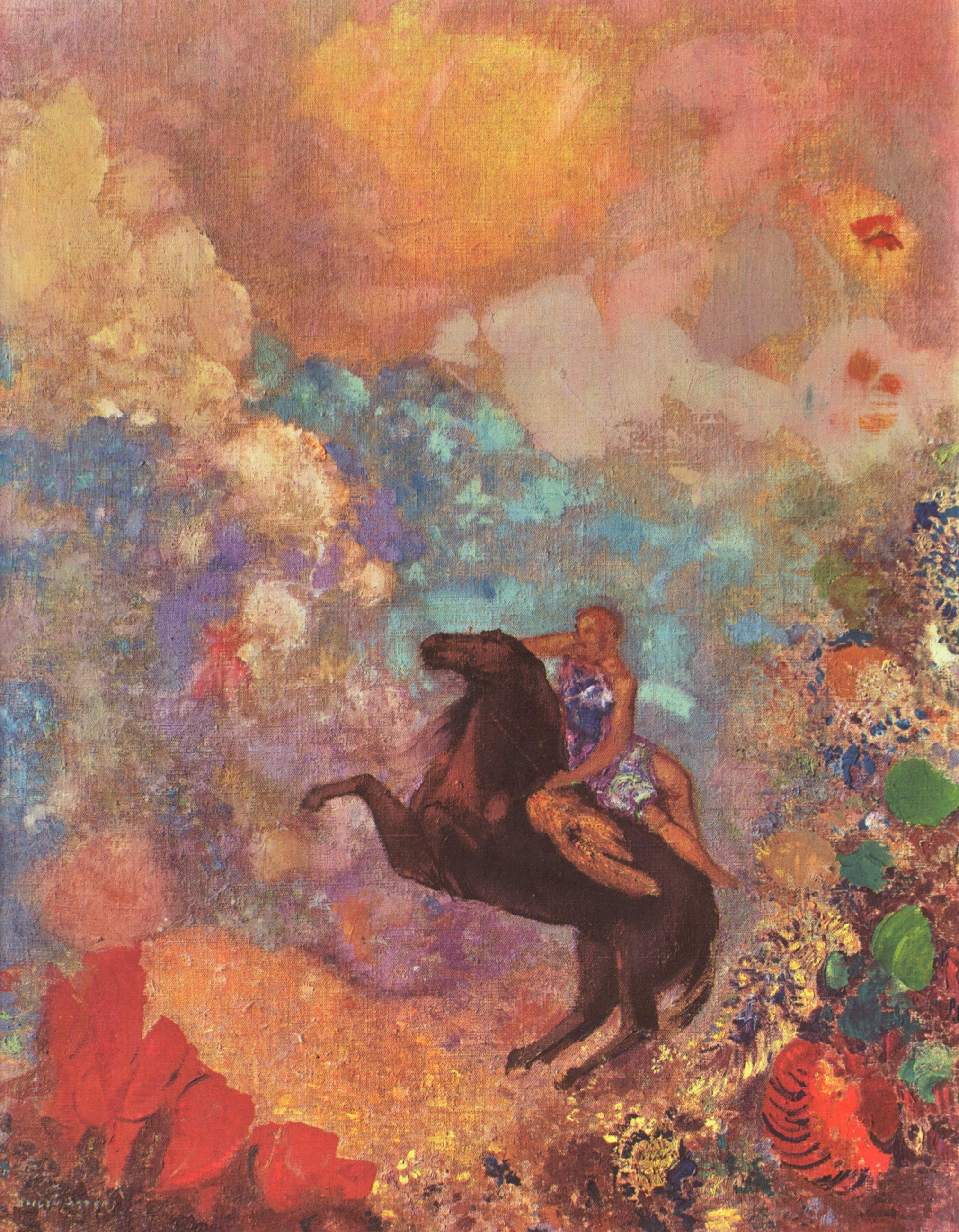 Pegasus and the Muse, 1900 — Odilon Redon