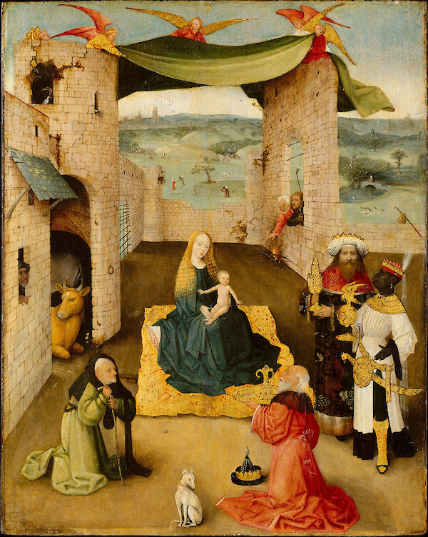 Hieronymus Bosch - The Adoration of the Magi 1475 oil and gold 71.1x56.5cm MET