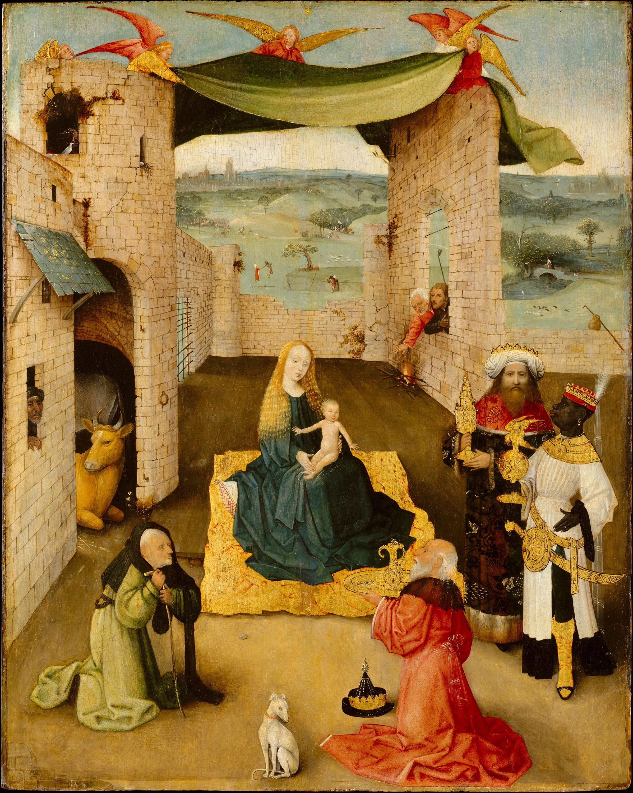 The Adoration of the Magi, 1475 — Hieronymus Bosch,