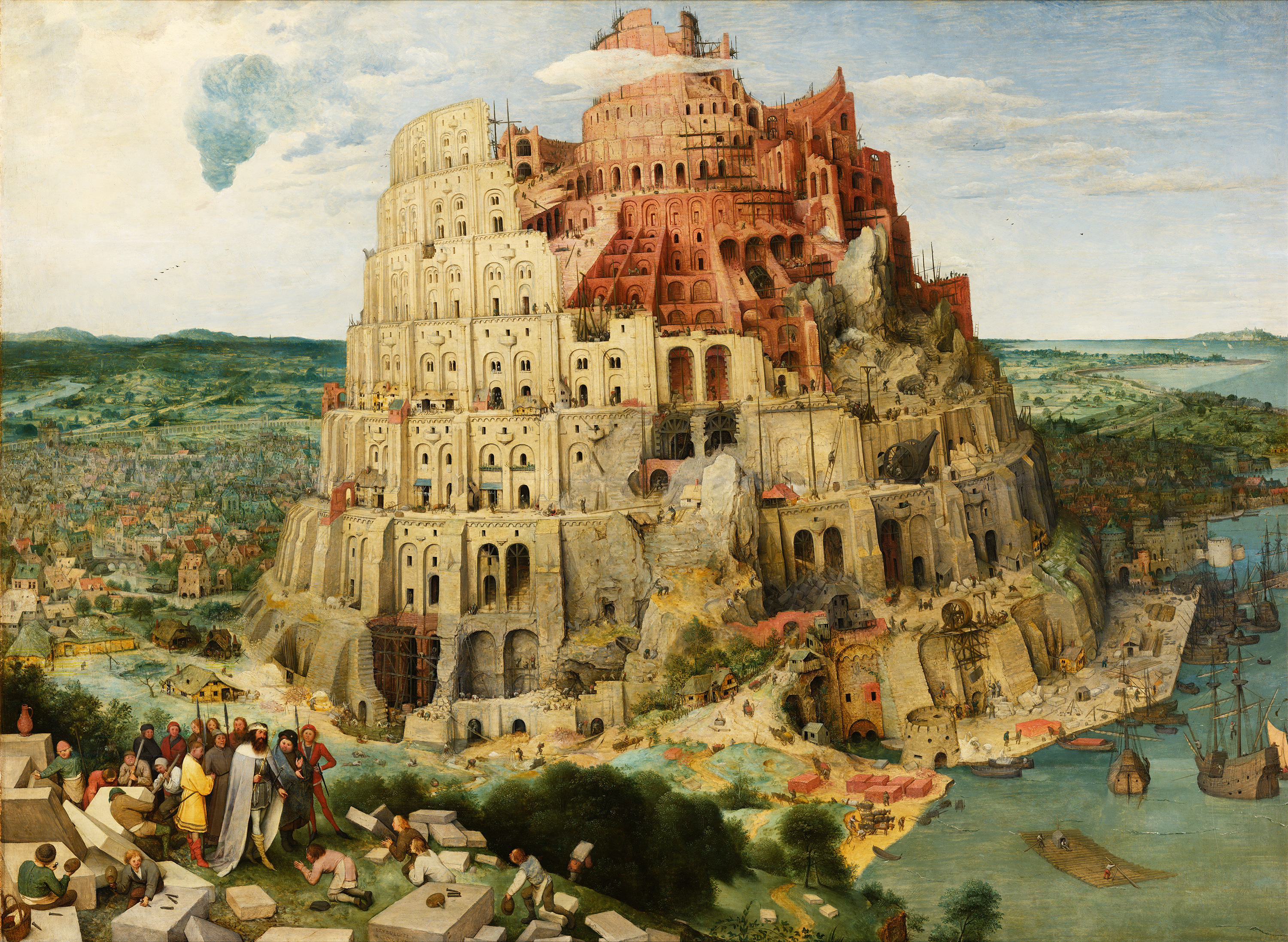 The Tower of Babel, 1563 — Pieter Bruegel the Elder, Kunsthistorisches Museum