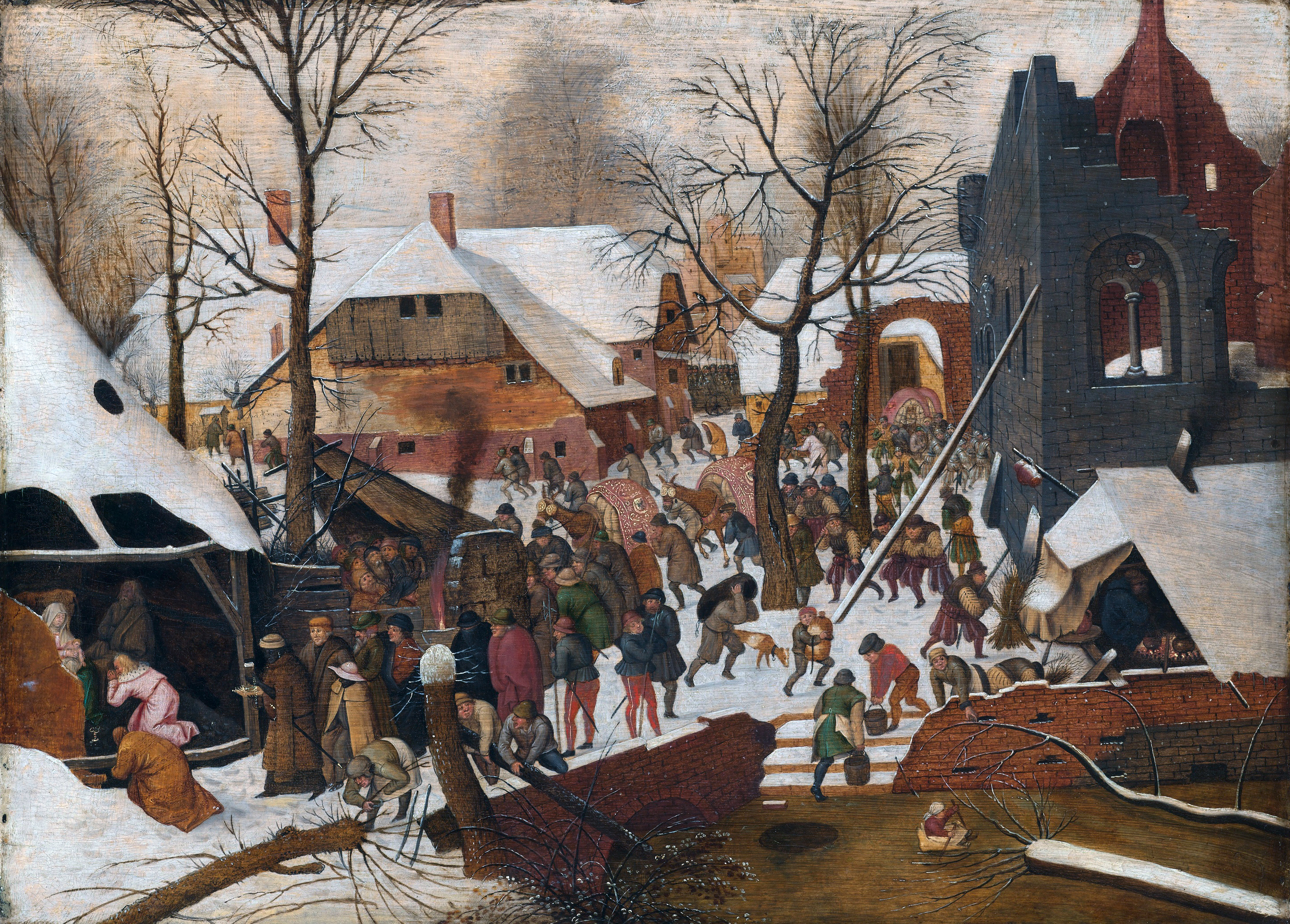 Adoration of the Kings in the Snow, 1567 — Pieter Bruegel the Elder,