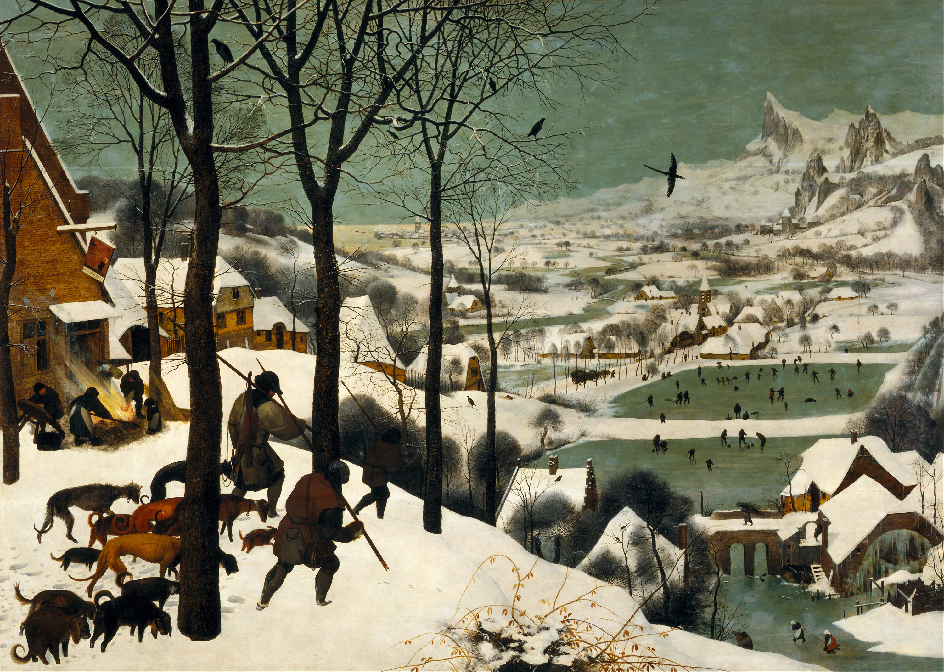 Hunters in the Snow, 1565 — Pieter Bruegel the Elder,